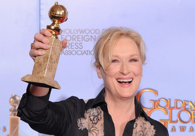Iron Lady Meryl Streep triumphs at Golden Globes